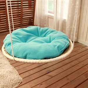 Detachable  Cozy Cushion Straw Climbing Bed for Cats - Red-eye