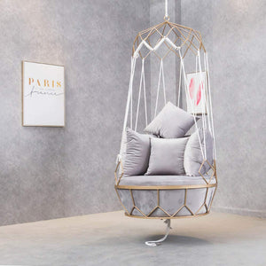 Lazy Metal Swing Basket Chair - SMGPYHWYP
