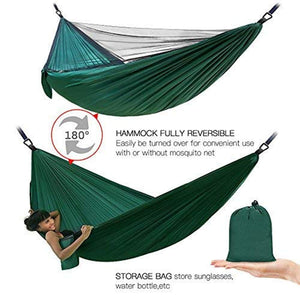 Double Camping Hammock with Mosquito Net - RRDF