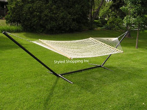 Styled White Rope Hammock Set - Styled Shopping