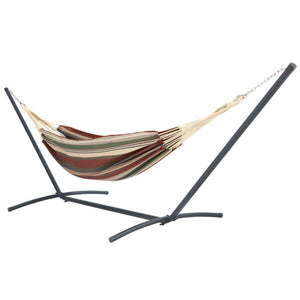 Brazilian Soft Woven Cotton Double Hammock with Steel Stand  - Best USA