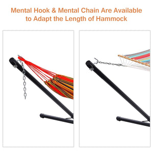 10Ft Steel Hammock Stand with Hook & Chain - Giantex
