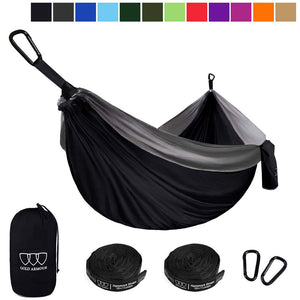 Gray/Black Camping Hammock - Gold Armour