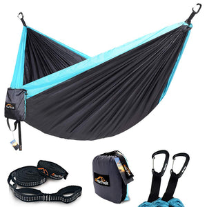 AnorTrek Single & Double Camping Hammock, with Tree Straps