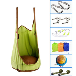 JHHXW Indoor Outdoor Child Canvas Swing Chair