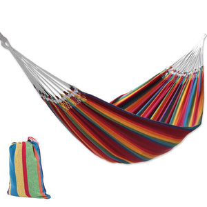 Rainbow Striped Cotton Fabric Brazilian Wide Hammock - Littlestar-cn