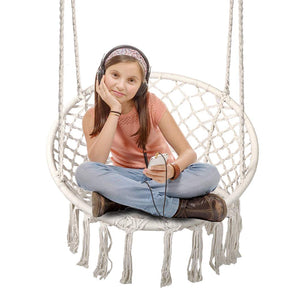 Cotton-Woven Rope Macrame Hammock Swing Chair - Chihee
