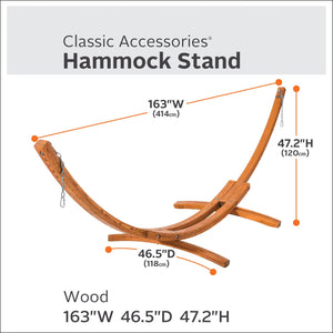 Montlake Heavy Duty Hardwood Hammock Stand - Classic Accessories
