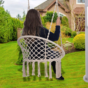 Handmade Hanging Cotton Rope Macrame Swing Chair - KCPer