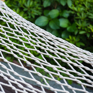 Cotton Rope Hammock with Wood Arc Stand