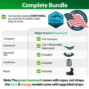 Camping Hammock with Mosquito Net - Ridge Outdoor Gear