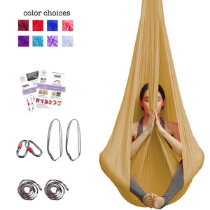 Silk Aerial Yoga Swing & Hammock Kit - Aum Active