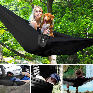 Nylon Camping Hammock with Bug Net - Kamileo