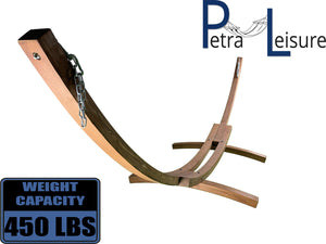 14 Ft. Wooden Arc Hammock Stand - Petra Leisure