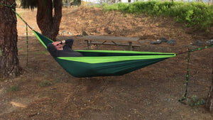 Portable Double Tree Hammocks - MalloMe
