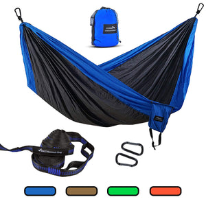 Parachute Double Camping Hammock with Tree Straps & LOOPS - Geezo