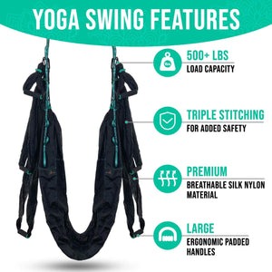 Aerial Yoga Antigravity Inversion Kit with Trapeze Sling - YogaSwingPro