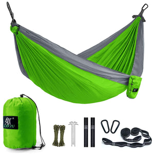 Unimpeded Double Camping Hammock with Straps & Carabiners