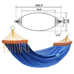 Double Camping Hammock with Tree Straps for Outdoors - NOBLE DUCK