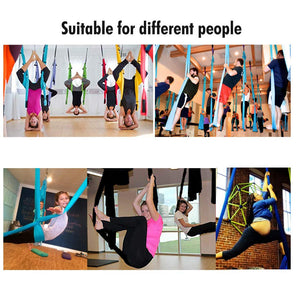 Pellor Six Handle Aerial Yoga Hammock Set