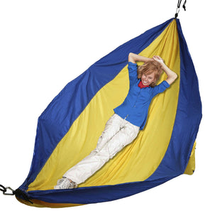 Yellow /Blue Camping Hammock with Ropes - Mind Reader