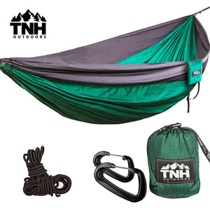 Double & Single Lightweight Parachute Camping Hammock - TNH Outdoors