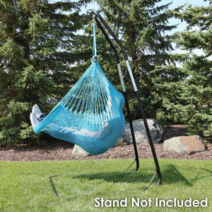 Extra Large Hanging Rope Hammock Chair Swing - Sunnydaze