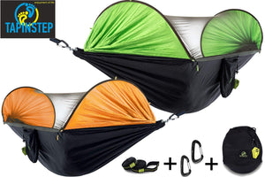 TAPINSTEP Single & Double Outdoor Camping Hammock with Mosquito Net