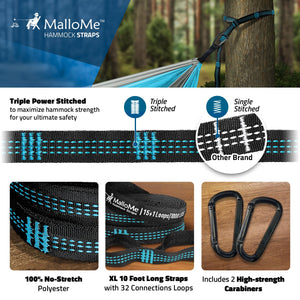 Double & Single Portable Camping Hammock - MalloMe