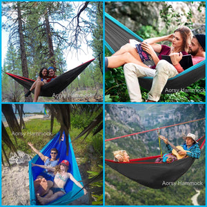XL Single & Double Parachute Nylon Waterproof Camping Hammock - AORSY
