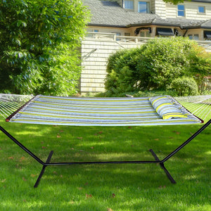 Double Hammock with Spreader Bars and Detachable Pillow - Sorbus