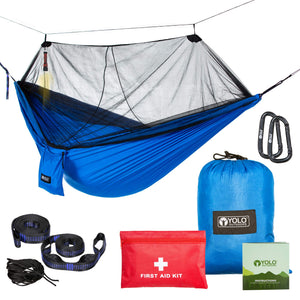 Camping Hammock with Mosquito Net - YOLO Outdoors