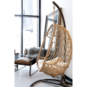 Outdoor Hanging Egg Chair with Stand