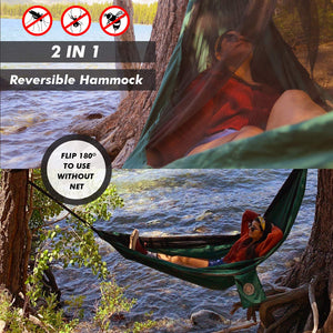 Camping Hammock with Mosquito Net - Time Travel Distribution