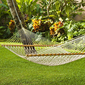 Indoor & Outdoor Double Cotton Rope Hammock - EmpireCovers