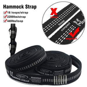 Double Hammock with Two Tree Straps - SEGMART