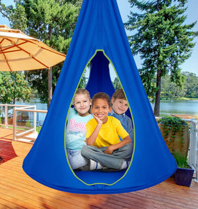 Kids Hanging Nest Swing Chair Nook - Sorbus