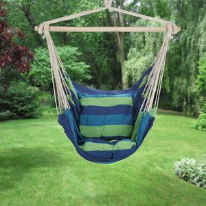 Blue & Green Hanging Hammock Chair - ARAD