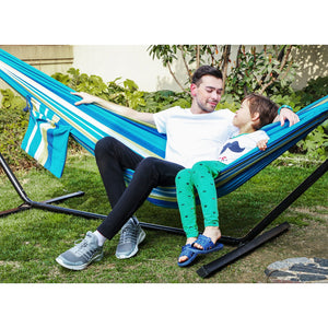 Brazilian Style Double Cotton Hammock Swing Bed - SONGMICS