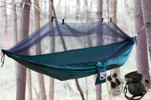 Nylon Camping Hammock with Mosquito Net & Free Tree Straps - Adventure Gear Outfitter