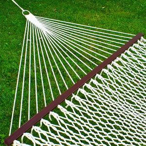 Cotton Rope Double Hammock with Carrying Case & Spreader Bars - Miracle9