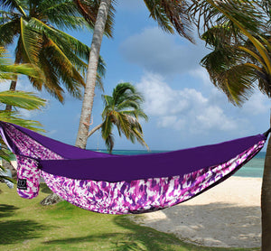 Camping Hammock (Purple Camouflage) - Gold Armour