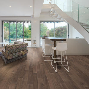 Amarosa Allure Walnut in Open Space Room Scene