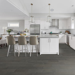 Amarosa Basalt Oak Hardwood in Contemporary Kitchen Room Scene