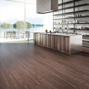 Voyage Big Sleep Oak Luxury Vinyl in Contemporary Kitchen