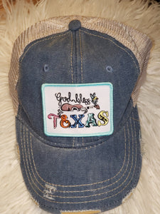 Judith March God Bless Texas Hat