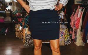 Blue Pencil Skirt with stretch
