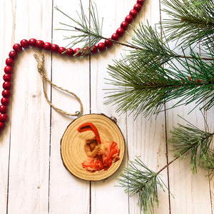Yearly Santa/Christmas Photo Personalized Ornament