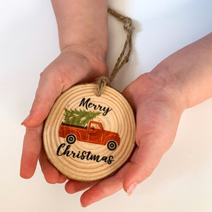 Red Christmas Truck Ornament