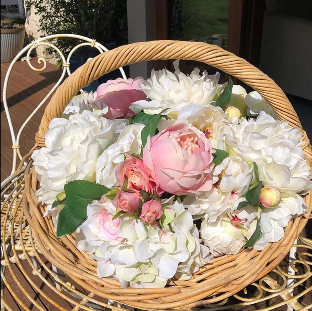 Hydrangea and Rose Bouquets